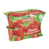 Andros Délice En Morceaux - Dessert Fruité - Fraise - 4x100g