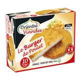 Burgers de poulet panés / Halal - 10 x 60 g - Surgelé