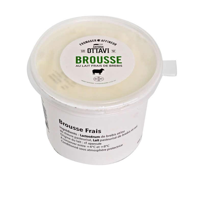 Brousse au lait frais de brebis 11,2% de MG ANTOINE OTTAVI, pot de 500g