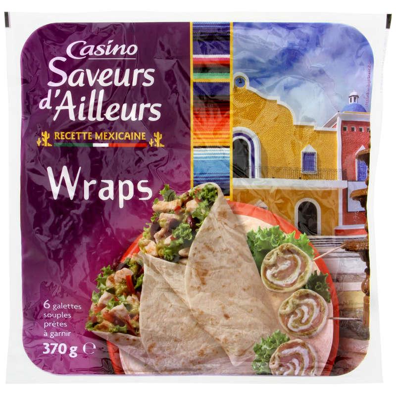 CASINO SAVEURS D'AILLEURS Wraps - Galettes souples à garnir ...