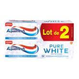 Aquafresh Dentifrice - Pure White - Menthe Givrée - 2x75ml