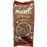 CASINO Muesli croustillant aux 3 chocolats 500g