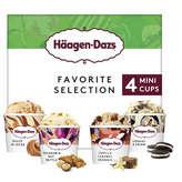 Häagen-Dazs HAAGEN DAZS Favorite selection - Crème glacée - dulce de lec... - x4