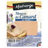 Madrange Mousse De Canard Au Porto - Pâté En Tranche - 180g