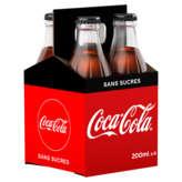 Coca Cola Zéro - Soda Cola - 4x200ml