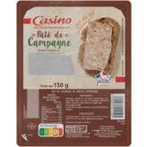 CASINO Pâté de campagne - Taux de sel réduit 150g