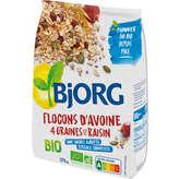 Bjorg Flocons D'avoine - 4 Graines Et Raisins - Biologique - 3