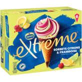 Nestlé Nestle Extrême - Sorbets Citrons Framboise - Cornets De Glac... - 6x60g