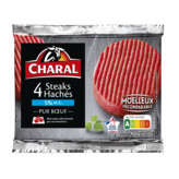 Charal Steaks Hachés - 5% Mg - 4x100g