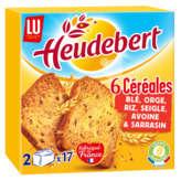 LU Lu Heudebert - Biscottes - 6 Céréales - 34 Biscottes - 300g