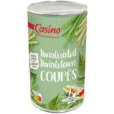 CASINO Haricots verts et haricots beurre - Coupés