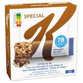 Kellogg's SPECIAL K Barres céréales riz-blé-choc au lait - 6x20g