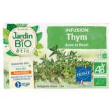 Jardin Bio Infusion Thym - Sachets - Biologique - X20