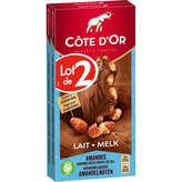 Côte d'Or COTE D'OR Bloc - Tablette de chocolat - Lait - Amandes caram... - 2x180g