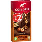 Côte d'Or COTE D'OR Bloc - Tablette de chocolat - Noir - Noisettes ent... - 2x180g