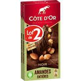 Côte d'Or Bloc - Tablette De Chocolat - Noir - Amandes Entiè... - 2x180g