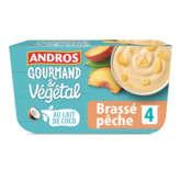 Andros ANDROS Gourmand et Végétal - Dessert brassé Pêche - Au lait ... - 4x100g