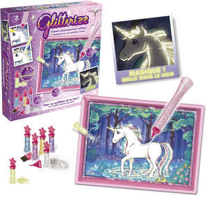 Glitterizz licornes phosphorescentes