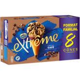 Nestlé Nestle Extrême - Café Sauce Au Café Et Pépites - Cônes Glacé... - 8x120ml