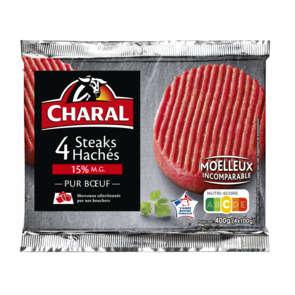 Steak haché - 15% mg - x4
