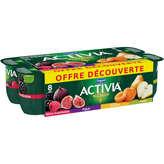 Danone Danone Activia - Bifidus - Mûre-framboise, Figue, Abricot, P... - 8x125g