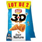 Bénénuts 3d's Bugles - Biscuits Apéritifs - Nature - 2x85g