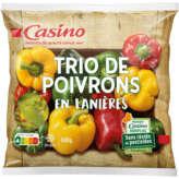 CASINO Trio de poivrons surgelés 600g