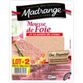 Madrange Mousse De Foie - Pointe De Crème - 2x180g