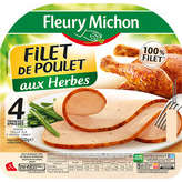 Fleury Michon filets de poulet aux fines herbes tranche x4