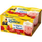 Nestlé Nestle La Laitière - Liégeois Au Yaourt - Sur Lit De Fraises... - 4x100g