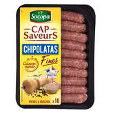 Socopa SOCOPA Chipolatas fines nature - x10 - 230g