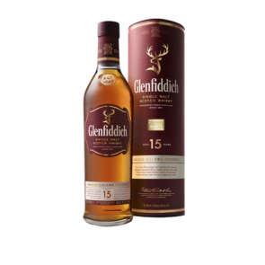 Whisky single malt - 15 ans d'âge - alcool 40% vol.