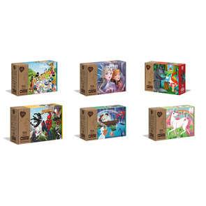 Puzzle 104 pièces modèle aléatoire