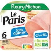 Fleury Michon Le Paris - Jambon Blanc - Taux De Sel Réduit -... - 240g