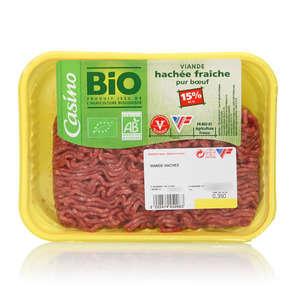 Viande hachée fraiche - Pur bœuf - 15% mg - Biologique