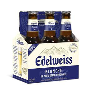 Bière blanche aromatisée herbes des montagnes Edelweiss