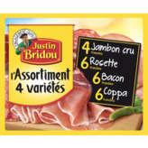 Justin Bridou L'assortiment 4 Variétés - Jambon Cru, Rosette... - 260g