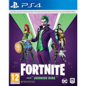 Jeu PS4 Fortnite Pack dernier rire