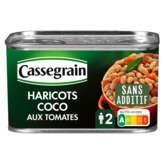 Cassegrain haricots coco cuisinés aux tomates 1/2 250g (Prix Par Unité) Envoi Rapide Et Soignée