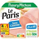 Fleury Michon Le Paris - Jambon Blanc - Moins 25 % De Sel -... - 200g