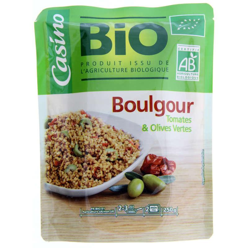 Plat cuisiné - Boulgour tomates et olives vertes -
