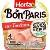 Herta Le Bon Paris - Au Torchon - Jambon - 4 Tranches -