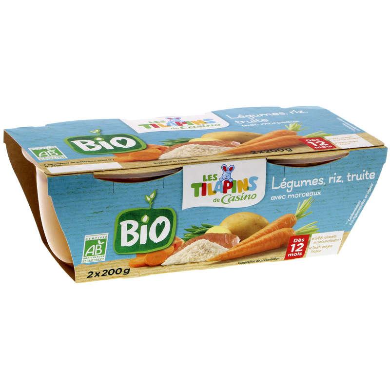 Purée de Légumes Riz et Truite avec morceaux - Bol pour Béb...