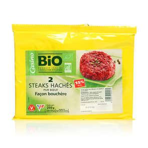 Steak haché de bœuf 15% mg - x2