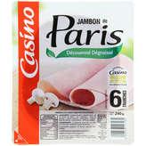 CASINO Jambon de Paris - Sans couenne - 6 tranches