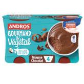 Andros Gourmand & Végétal - Mousse Au Chocolat - Dessert - A... - 4x55g