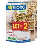Bjorg Quinoa Lentilles Biologique - 2x500g