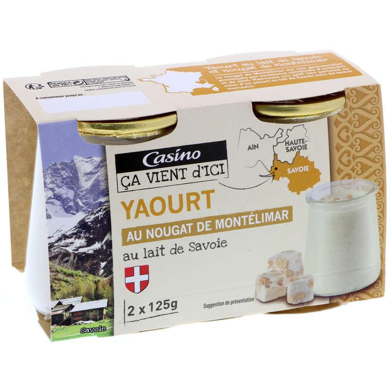 Yaourt au lait de Savoie - Au nougat d...
