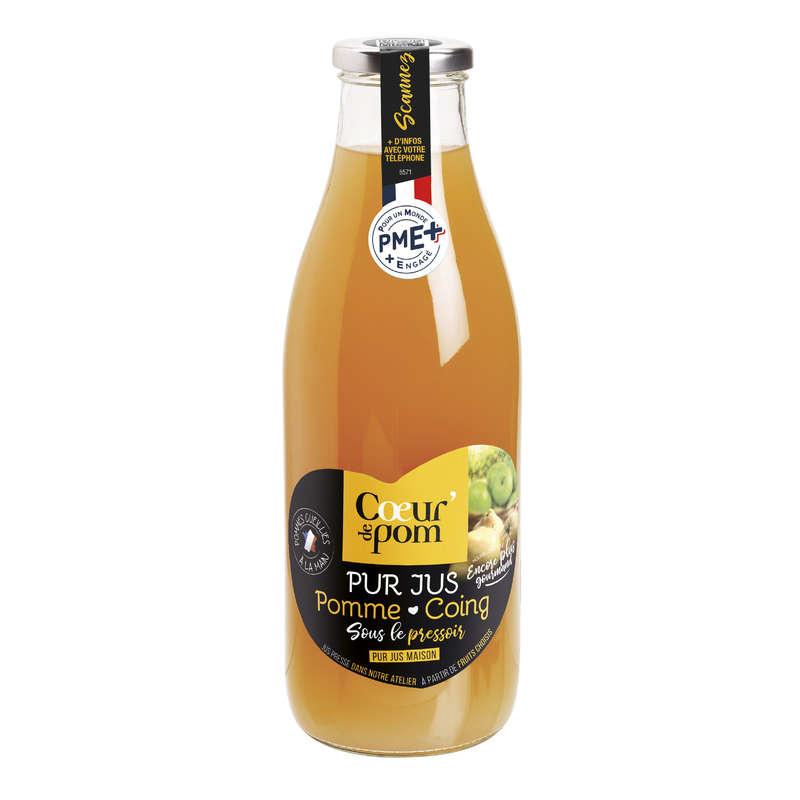 Cœur de Pom Pur Jus de Pommes Coings 1 L