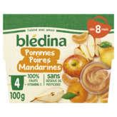 Blédina BLEDINA Purée de fruits - Saveur Pommes Poires Mandarines - ... - 4x100g